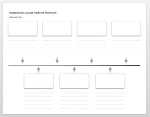 horizontal blank timeline template