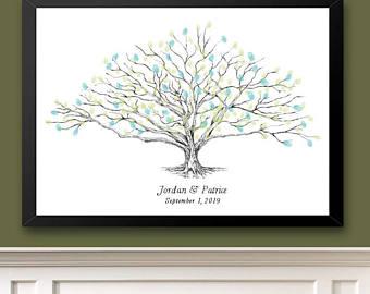 low oak tree thumbprint