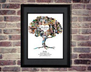 photo collage family tree