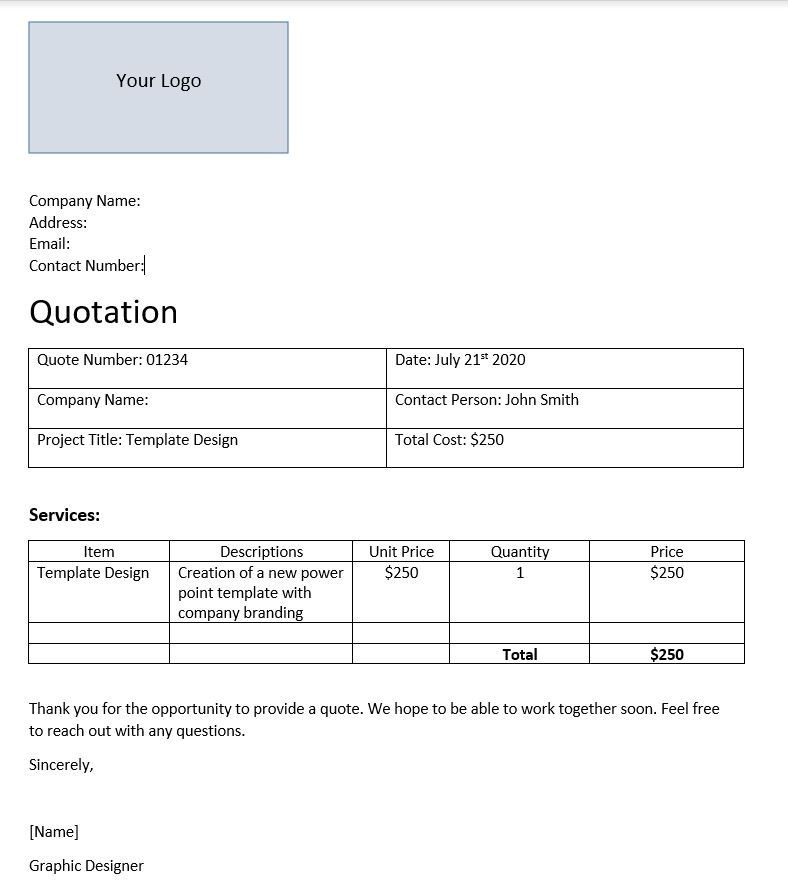 quotation-template-simple
