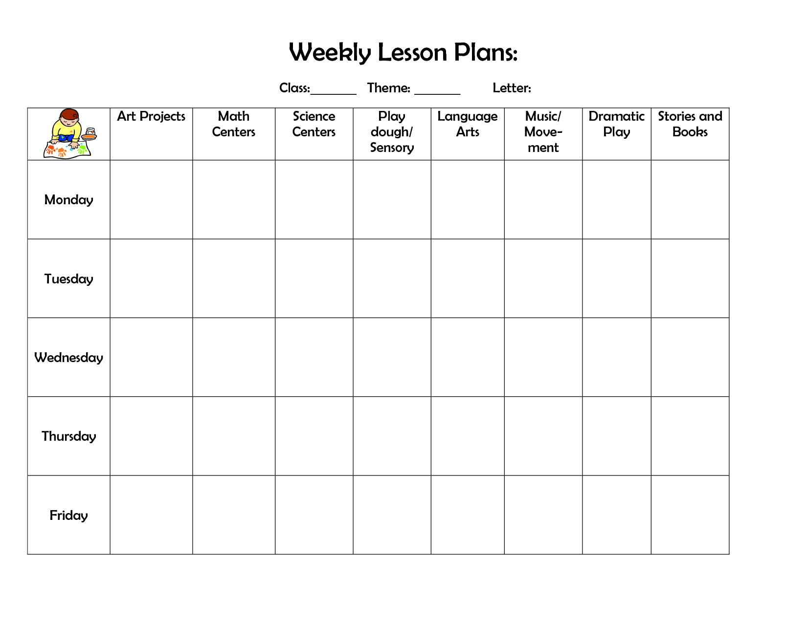 lesson plan template free