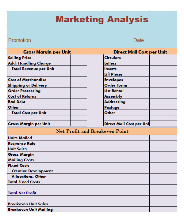 MarketAnalysis Template