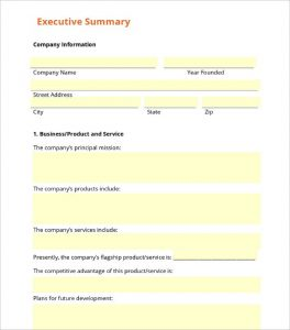 Business Summary Template