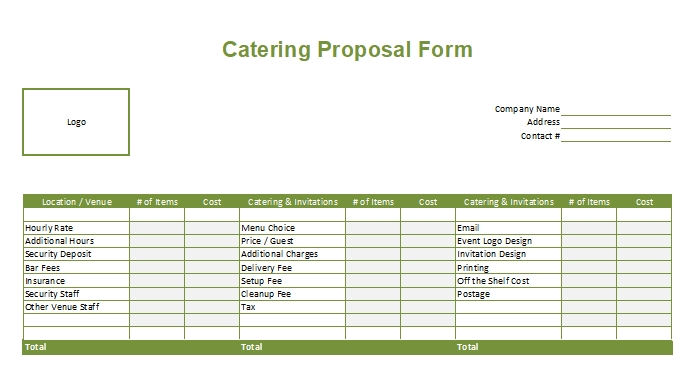 Catering-Proposal