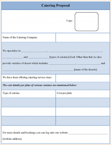 Catering Proposal Sample | Catering Proposal Templates 10 Catering Templates Services All