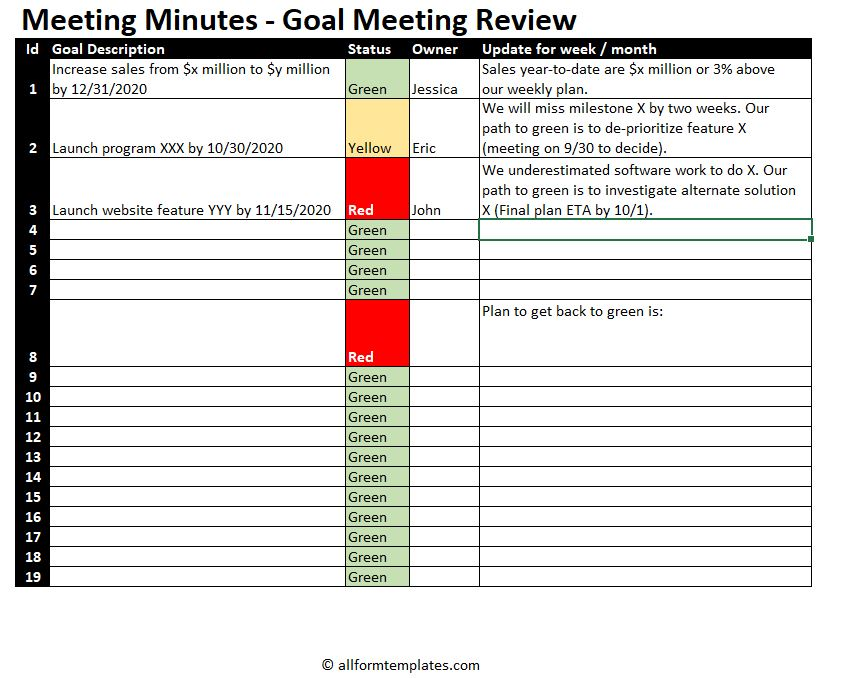 meeting-minutes-for-goals-review-agenda