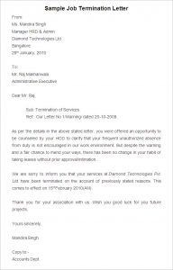 job termination form