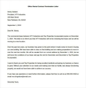 Simple Business Dismissal letter template