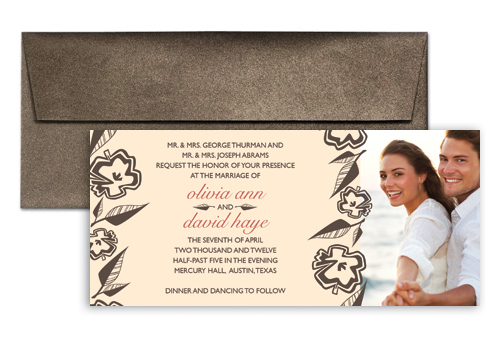 Beige Wedding Invitation Template