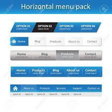Horizontal Menu Website Template