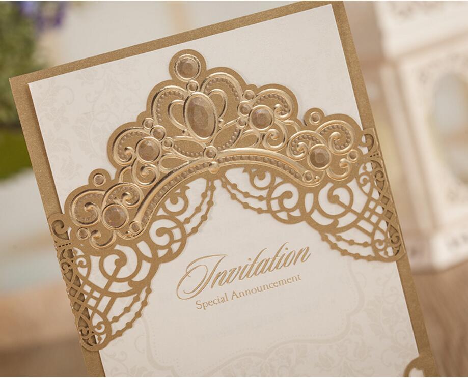 Special Crown Wedding Invitation Templates