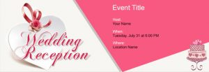 Wedding Reception Invitation Card Templates