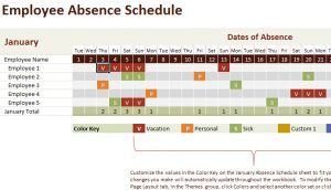Employee Vacation Absence Schedule Template