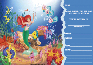 under sea party templates
