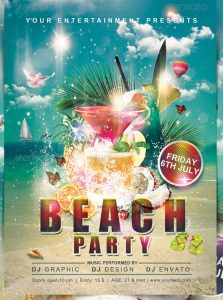 sample beach party templates