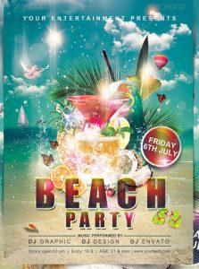 sample beach party templates