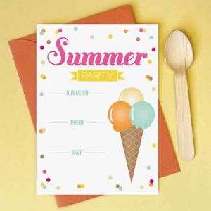 summer party invitation