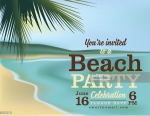 beach party invitation