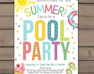 pool party templates
