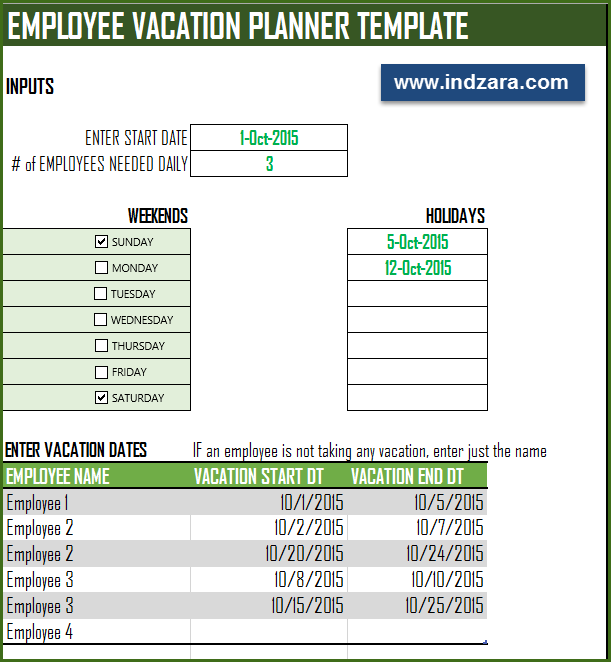 vacation template