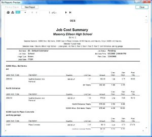 Bid specification sheet for computer template