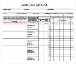 Certified payroll template