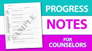 Counselling progress note template
