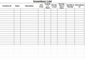 Desktop product inventory database template