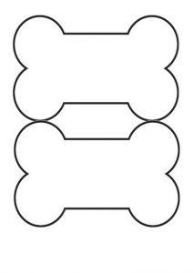 Dog bone style blank label template