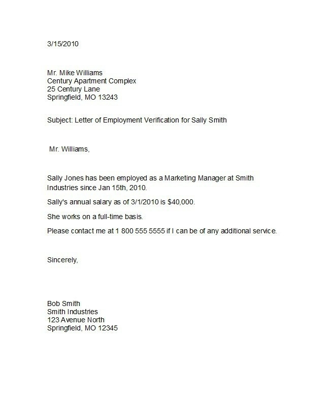 Employee background verification letter template