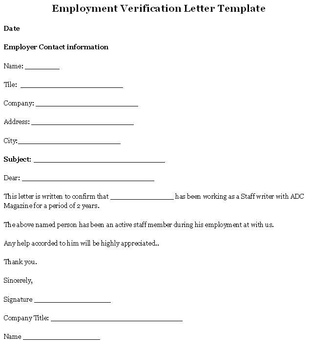 Employment-Verification-Letter templates