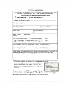vent planning form