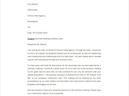HR Invitation letter templates