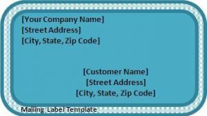 Mailing label templates