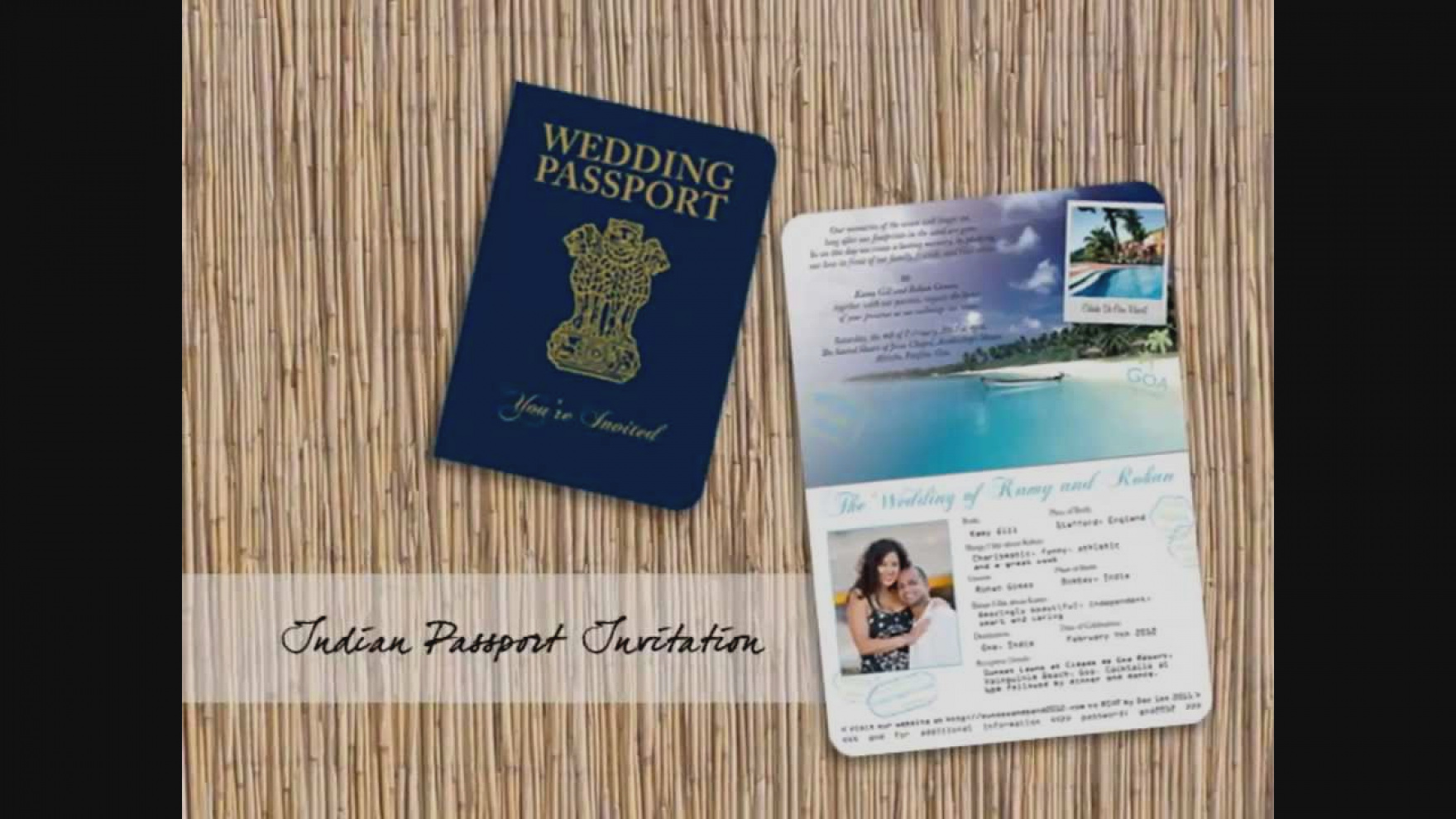Passport with ticket template
