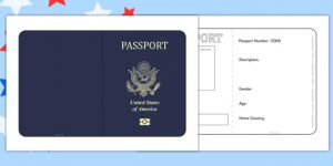 Simple double sided passport template