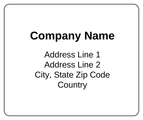 Standard-Shipping-Label templates