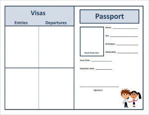 Student passport template