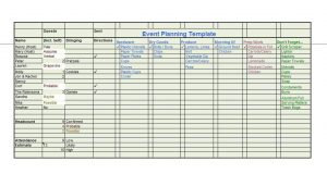 event plan templates