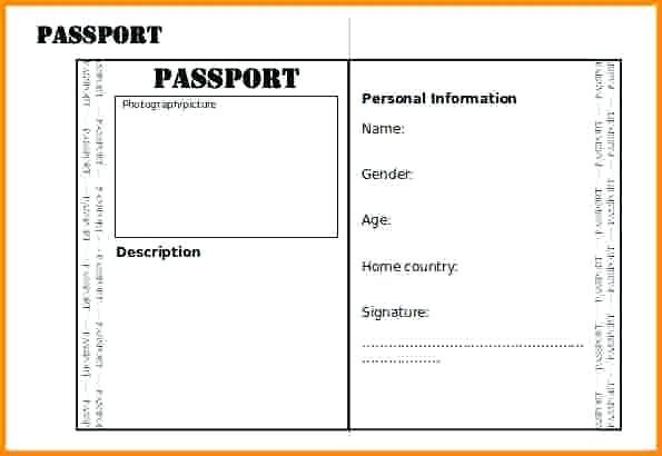 photo regarding Printable Passports for Kids known as Pport Templates Blank Overseas Pport Template All