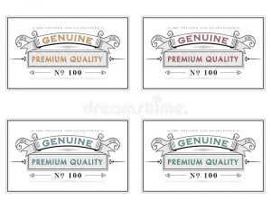 Different style of label templates