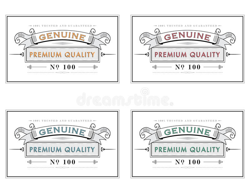 retro style retail label template