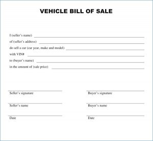 bill of sale examples and samples