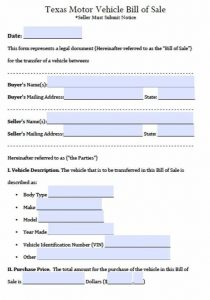 bill of sale word templates bill of sale form texas all form