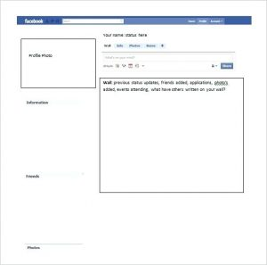 Facebook template for word document