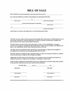 free bill of sale templates