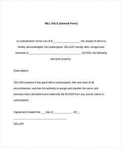 free printable bill of sale word templates all form templates