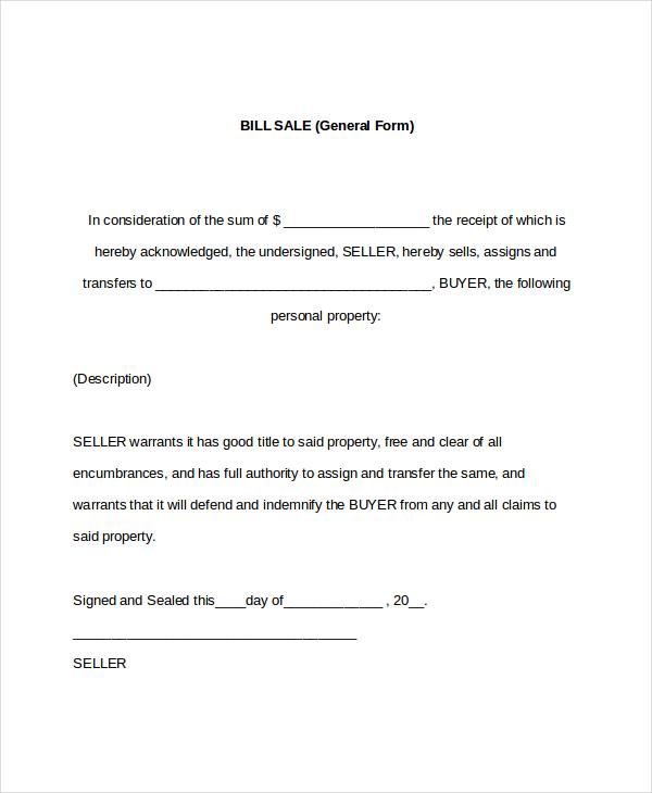 general-bill-of-sale–template