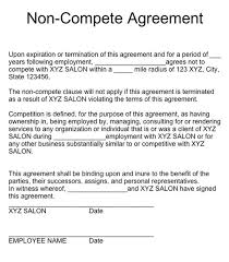 Standard non-compete agreement