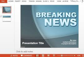 breaking news powerpoint template